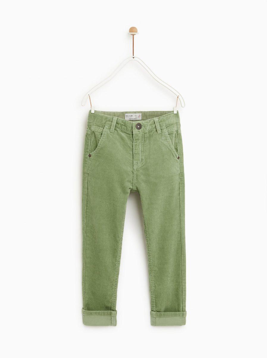 Pantaloni velluto Zara