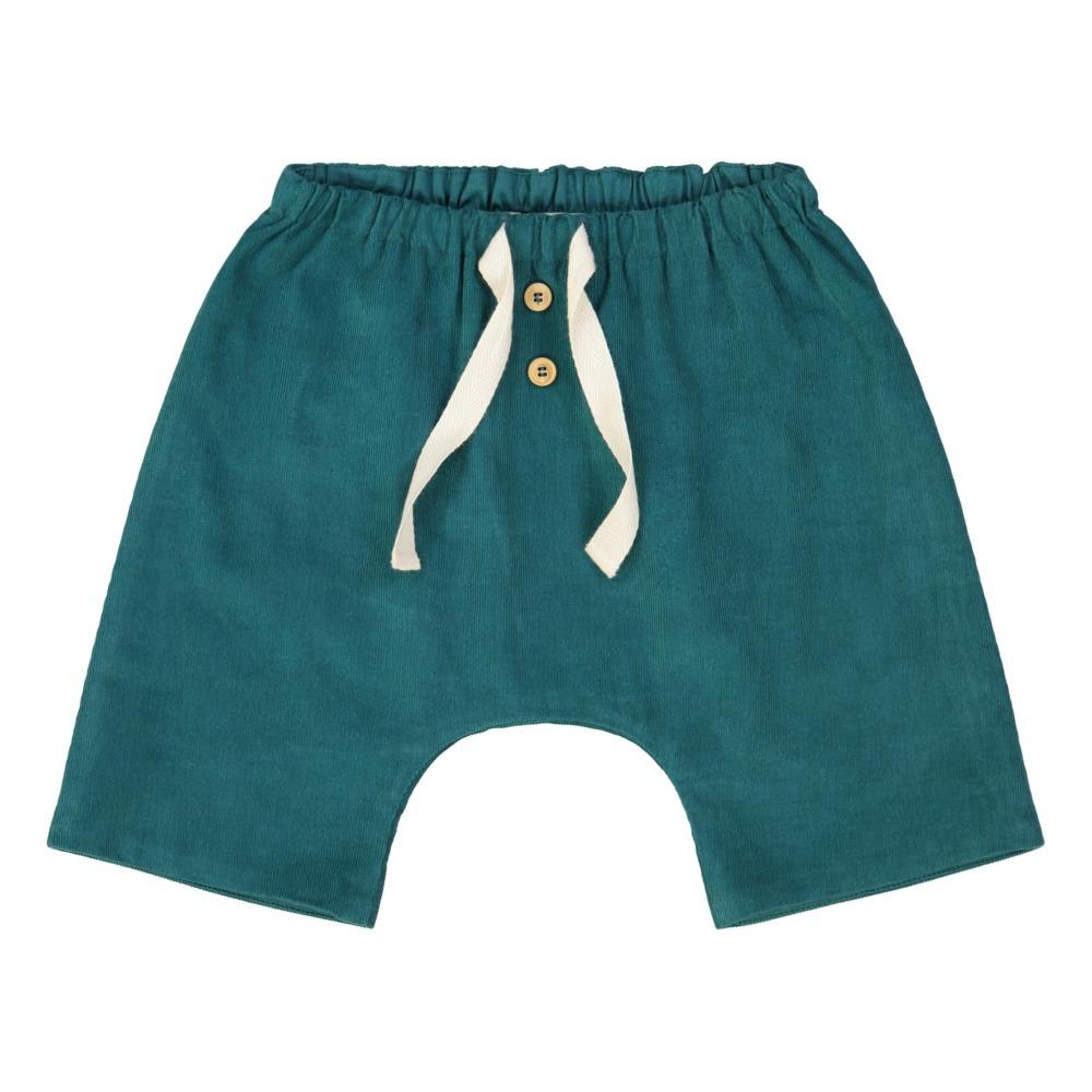 Pantaloni in velluto bebè verde anatra Petite Lucette Paris