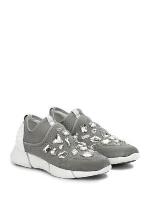 Sneakers in tessuto elasticizzato con pietre Elena Iachi
