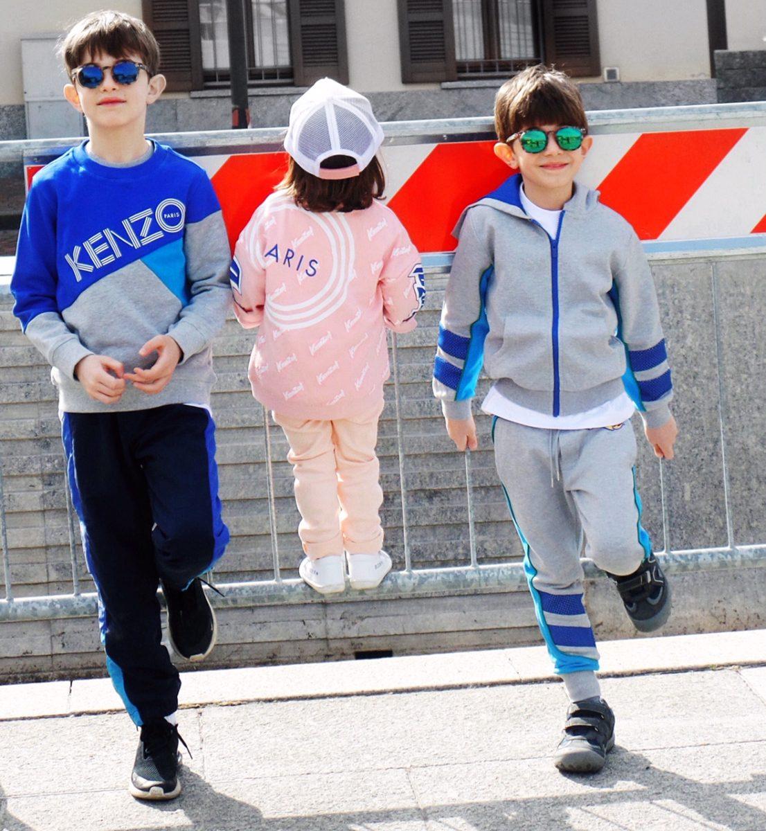 vestiti per bambini pantaloni Kenzo Kids