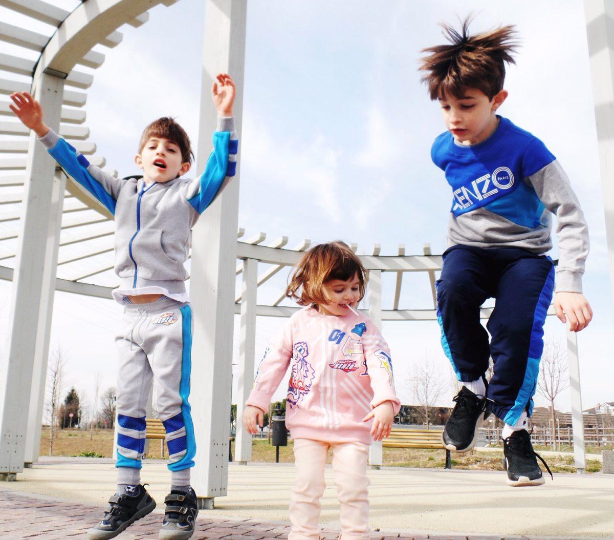vestiti per bambini tuta Kenzo Kids